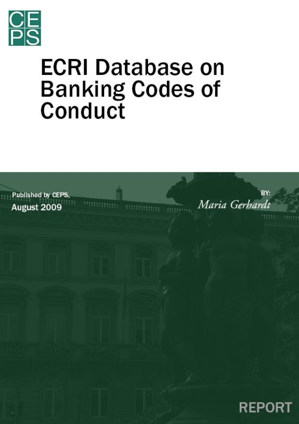 ECRI Database on Banking Codes of Conduct – CEPS